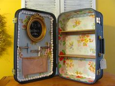 Vintage Suitcase Doll House Chalkboard by thelovelyadventure