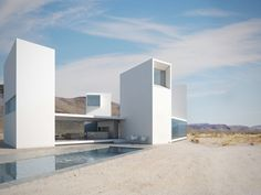 Four Eyes House; Coachella Valley, CA by Edward Ogosta Architecture