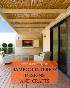40 Rustic Bamboo Interior Designs And Crafts Air B And B, Wooden Decor, Cabana, Natural Wood, Bamboo Ideas, House Plans, Pergola, Outdoor Structures, Interior Design