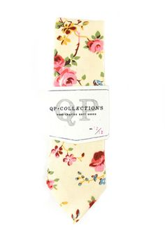 Spring Floral Skinny Tie / qp collections $62