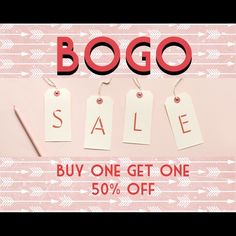 BOGO SALE!!! Buy one get one 50% off now through Saturday! EVERYTHING MUST GO! All proceeds go towards my college fund  I have to make my deposit by May 1st  Please support me  Other