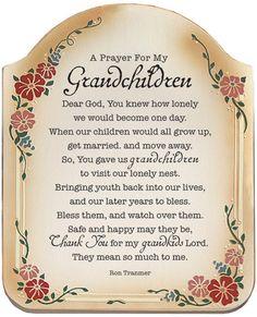 New Year Christian Prayer | Prayer For My Grandchildren Inspirational Christian Plaque