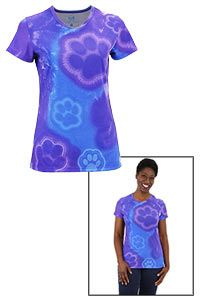Funds 14 bowls of food.  Purple Paw Blues Tie-Dye Tee at The Animal Rescue Site