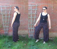 Palazzo pants by Crafty Clyde - sewing secret pyjamas for summer, the comfiest trousers ever! #sewing  #palazzo