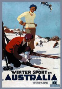 Browse and buy from Travel Posters Online. We have a massive collection of Vintage Railway and Travel poster Art Prints Ski Vintage, Vintage Ski Posters, Vintage Films, Retro Poster, Vintage Images, Posters Australia, Australian Vintage, Tourism Poster, Travel Ads