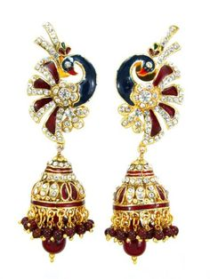 Checkout our #awesome product Imitation Designer Peacock Design Stone Jhumka Earring / AZINJE124-GMR - Imitation Designer Peacock Design Stone Jhumka Earring / AZINJE124-GMR - Price: $45.00. Buy now at http://www.arrascreations.com/imitation-designer-peacock-design-stone-jhumka-earring-azinje124-gmr.html