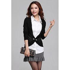 Negro de dos piezas de OL de las mujeres Zhubi como la camisa de manga larga – EUR € 19.79
