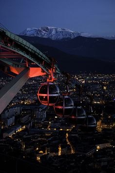 Grenoble cable car, France. I USED TO LIVE RIGHT THERE.