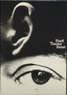 Armin Hofmann Stadt Theater Basel 1962 Medium Offset lithograph Dimensions 50 x 35 x cm) Printer Wassermann A., Basel Credit Gift of the artist Object number Department Architecture and Design Gfx Design, Design Art, Print Design, Bts Design Graphique, Art Graphique, Basel, Cover Design, Armin Hofmann, International Typographic Style