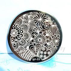 $2.99 Creative Radiating Flroal Image Nail Art Stamping Template Image Plate BORN PRETTY BP53 - BornPrettyStore.com