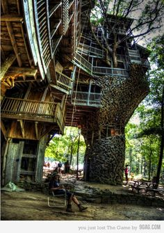 Treehouse in TN.   It was crazy going through this thing.   The owner has big plans for it.