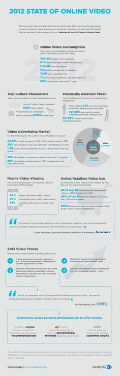 State of Online Video Viewing Infographic