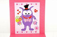 Valentine's Monster Sticker Sheet
