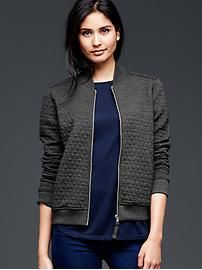 Jacquard bomber jacket  Some thing like this would be cool.