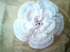 (4) Name: 'Crocheting : 4 Layer Big Crochet flower with open cen