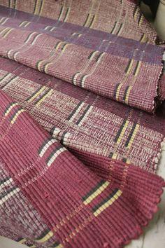 Wonderful vintage Rag Rug runner carpet / stair runner etc ~ beautiful purple tones ~ ideal for a rustic interior  ~ www.textiletrunk.com