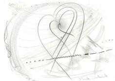 DARTGR0315007 #Heart #Black #love #Minimal #DanielaDallavalle #Grafismi #loveistheanswer #ink #sketches #art #sentences #phrase