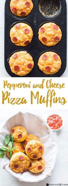 With all the flavours of a classic PIZZA, these MUFFINS smell just like PEPPERONI and CHEESE pizza when they come out of the oven!