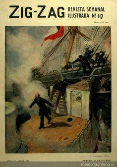 """Zig-Zag: año 3, n° 117, 19 de mayo de 1907 """"Prat""""    Pedro Subercaseaux"""