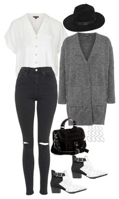 """""""Untitled #1459"""" by samikayy76 ❤ liked on Polyvore featuring Topshop, CHARLES & KEITH, Gladys Tamez Millinery, Proenza Schouler and ASOS"""