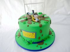 A rugby themed cake for a rugby made little boy! The cake inside is a red, green and white layer cake, the colours from the Welsh flag! Good idea for kids birthday party Dad Birthday Cakes, 10th Birthday, Birthday Ideas, Rugby Cake, Sports Themed Cakes, 50th Cake, Sport Cakes, Big Cakes, Character Cakes