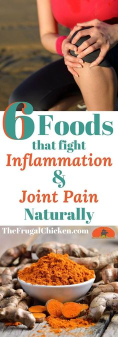 Feeling a bit...creaky in the joints and bloated in the gut? Here's 6 foods that fight inflammation and joint pain naturally - and you already have them in your kitchen!