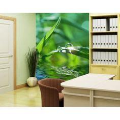 Glasvlies behang groen ambiance II | Fotobehang thema bamboe en gras