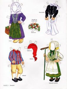 book - libro - scandinavian girl and boy - paper doll - denmark Paper Toys, Paper Crafts, Usa Culture, Paper Doll Costume, Paper Doll House, Irish Girls, Nordic Christmas, Thinking Day, Vintage Paper Dolls