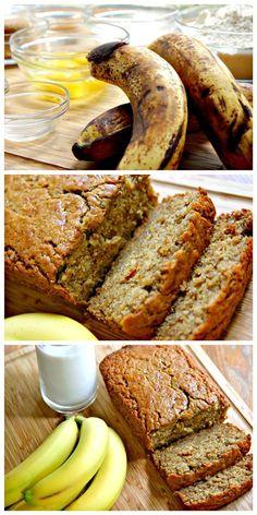How to Make Moist Banana Bread - Love with recipe