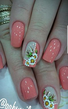 Funky Nails, Red Nails, Cute Nails, Pretty Nails, Spring Nail Art, Spring Nails, Summer Nails, Colorful Nail Designs, Cute Nail Designs