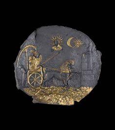 Gilded silver plaque, circa 300 BCE, Aï Khanum (Afghanistan), National Museum of Afghanistan