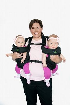NEW!! TwinTrexx 2 Twin Baby Carrier- now it's even easier to carry your #twin babies! $149.99