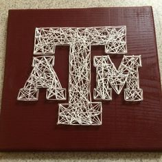 Texas am wood nail and string art texas a stringnail art texas am string art sign this listing is for a string art sign measuring 11 x prinsesfo Image collections