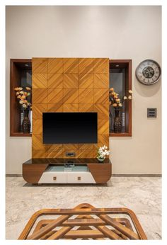 Hall Interior Design, Living Room Tv Unit Designs, Creative Walls, Wall Units, Tv Units, Design Firms, Traditional House, Home Furniture, Wall Tv