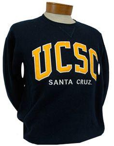 Men's UCSC Tackle Twill Navy Crew Sweatshirt
