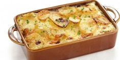 This scalloped potatoes au Gratin recipe talks about making a uniquely flavorsome and interesting dish. Scalloped Potatoes Au Gratin, Cheesy Potatoes, Garlic Potatoes Recipe, Oven Cooking, Cooking Recipes, Sausage Casserole, Vegetable Casserole, The Chew, Oven Baked Chicken
