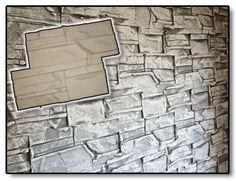 SILICONE STAMP wall vertical concrete veneer stone ledgestone decorative NEW diy