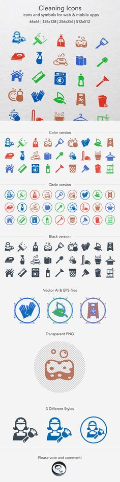 Cleaning Icons on Behance