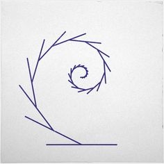 #323 Tendril – Something harmonious for the sunday – A new minimal geometric composition each day