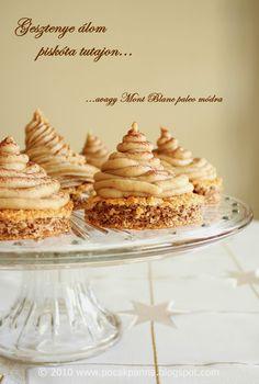 Pocak Panna paleo konyhája: Gesztenye álom piskóta tutajon, avagy Mont Blanc paleo módra (laktóz, cukor és glutén mentes)