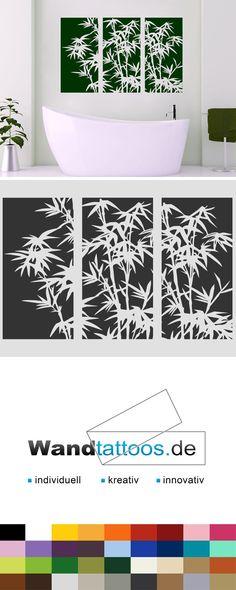 Wandbanner-Set Bambus als Idee zur individuellen Wandgestaltung. Einfach Lieblingsfarbe und Größe auswählen. Weitere kreative Anregungen von Wandtattoos.de hier entdecken!