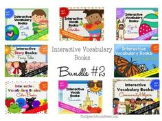 Interactive Vocabulary Books: Bundle #2This set includes 79 individual Interactive Vocabulary Books from 8 packets. These Interactive Preschool Vocabulary books are designed for teaching vocabulary concepts to early learners. The interactive books are designed to allow students to match pictures to each page of the book using velcro.