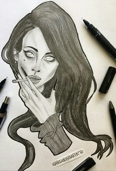 Lana Del Rey #art by Roger Barreto