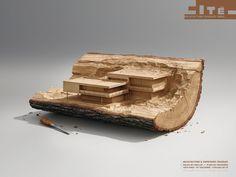 cité de l'architecture et du patrimoine Print Advert By Havas: Wood | Ads of the World™