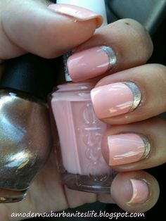 french mani in reverse - Essie 'A Crewed Interest' + Nicole 'Next CEO' #nails