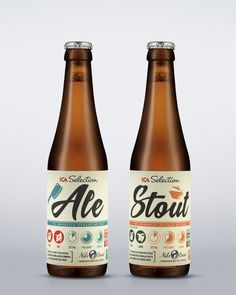 Swedish branding agency Silver produced design and packaging for a new, non-alcoholic beverage line for food retailer ICA. Cool Packaging, Beverage Packaging, Bottle Packaging, Design Packaging, Coffee Packaging, Craft Beer Labels, Beer Label Design, Beer Brands, Best Beer