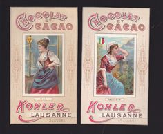 2 CHROMOS - Chocolat Kohler - 67x118 mm