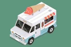 Isometric ice cream van vector Graphics Isometric vector ice cream van-EPS-High res JPG by Timur Zima Ice Cream Logo, Ice Cream Van, Best Graphics, Vector Graphics, Royalty Free Images, Royalty Free Stock Photos, Graphic Design Art, Adobe Illustrator, Illustrators
