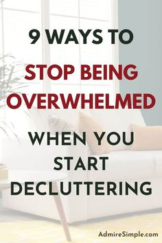 When you're overwhelmed with too much stuff and gets hard to start decluttering your entire home, try using these decluttering strategies to motivate yourself to clean and declutter. Becoming Minimalist, Minimalist Kids, Minimal Living, Simple Living, Declutter Your Home, Organizing Your Home, How To Get Motivated, Slow Living, Feeling Overwhelmed