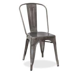 Silla TEREK -Galvanizado mate- (Sillas metálicas) - TOLIX A Sillas de diseño, mesas de diseño, muebles de diseño, Modern Classics, Contemporary Designs...